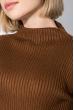 Туника женская базовая, приятная к телу, с вырезами на рукавах 619K006 терракотовый