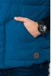 Жилетка мужская двухцветная, с контрастным подкладом 284V001 сине-кофейный