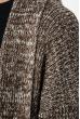 Кардиган женский без застежки, теплый 286V001 бело-коричневый