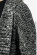 Кардиган женский без застежки, теплый 286V001 бело-черный