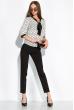 Блуза женская в горох 151PK1010 молочно-черный