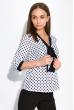 Блуза женская в горох 151PK1010 бело-синий