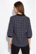 Блуза женская в горох 151PK1010 сине-белый