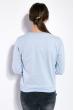 Свитшот женский,с текстовой нашивкой 32P066 голубой