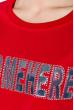 Свитшот женский,с текстовой нашивкой 32P066 красный