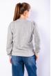 Свитшот женский 600F027 серый меланж