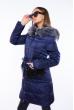 Куртка женская с перьевой отделкой 120PSKL2206 индиго