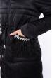 Куртка женская с перьевой отделкой 120PSKL2206 черный