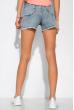Женские шорты с бахромой 162P019 светло-синий