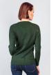 Свитер с порезами 716K001 темно-зеленый