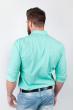 Рубашка однотонная, хлопок, длинный рукав №208F002 мятный