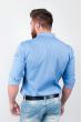 Рубашка однотонная, хлопок, длинный рукав №208F002 светло-сиреневый