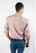 Рубашка однотонная, хлопок, длинный рукав №208F002 светло-бежевый