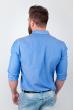 Рубашка однотонная, хлопок, длинный рукав №208F002 темно-сиреневый