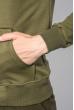 Кофта мужская с капюшоном 423F001-1 хаки