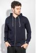 Кофта мужская с капюшоном 423F001-1 темно-синий
