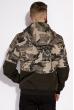 Куртка с милитари принтом 120POB21013 милитари / хаки