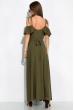 Платье однотонное на запах 120PVC199 хаки
