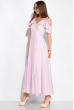 Платье однотонное на запах 120PVC199 светло-сиреневый