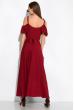 Платье однотонное на запах 120PVC199 вишневый