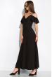 Платье однотонное на запах 120PVC199 черный