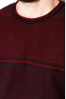 Джемпер в стиле Casual 520F019 бордовый / темно-синий