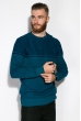 Джемпер в стиле Casual 520F019 бирюзовый / темно-синий