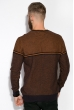 Джемпер в стиле Casual 520F019 светло-коричневый / темно-синий