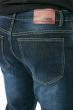 Джинсы мужские прямые с потертостями 708K006 синий