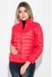 Куртка женская демисезонная, на молнии 191V004 алый