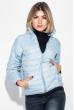Куртка женская демисезонная, на молнии 191V004 бледно-голубой