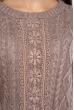 Свитер женский с  120PVA1027 светло-коричневый