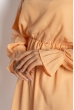 Однотонное платье с длинными рукавами 632F004-3 персиковый