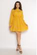Однотонное платье с длинными рукавами 632F004-3 желтый