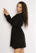 Однотонное платье с длинными рукавами 632F004-3 черный