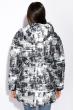 Куртка женская 121P025 черно-серый