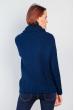 Свитер женский свободный под горло 382F002 синий