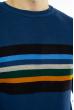 Свитер в полоску на груди 619F1865 синий