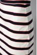 Классическая юбка в полоску 120PSE012-1 молочно-синий