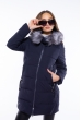 Женская приталеная куртка 120PSKL3709 темно-синий