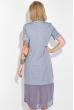 Платье-рубашка женское, с шифоновым низом 74PD345-2 серый