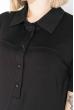 Платье-рубашка женское, с шифоновым низом 74PD345-2 черный