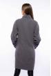 Пальто женское с контрастной строчкой 130P003 серо-синий