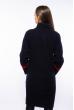 Пальто женское с контрастной строчкой 130P003 чернильно-красный
