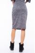 Костюм (юбка, блуза) женский 110P041 серый
