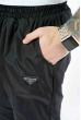 Брюки спортивные плащевые 157P010 на флисе черный