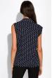 Блуза в горох 120PDS036 сине-белый