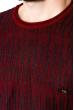 Джемпер мелкой вязки  520F012 бордовый / темно-синий