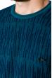 Джемпер мелкой вязки  520F012 бирюзово-синий