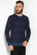 Джемпер мелкой вязки  520F012 джинс / темно-синий